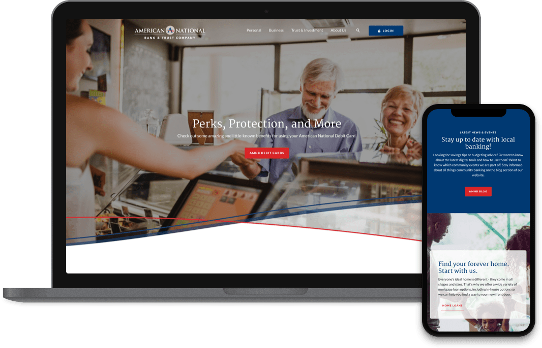 American National Bank and Trust Company website