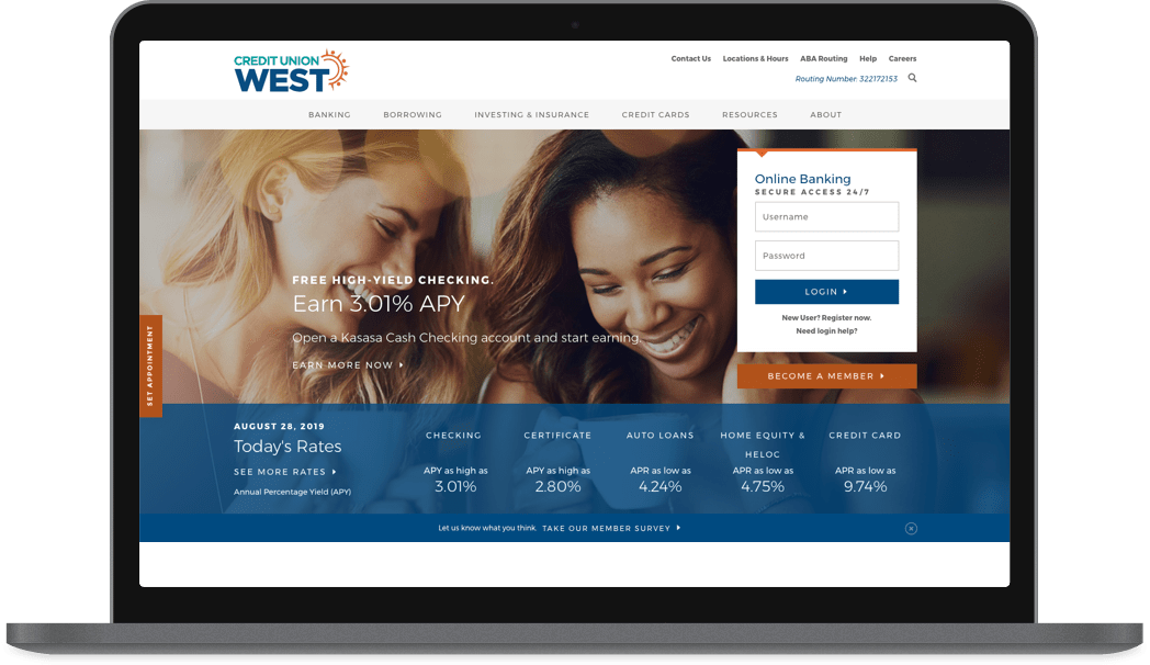 Credit Union West website