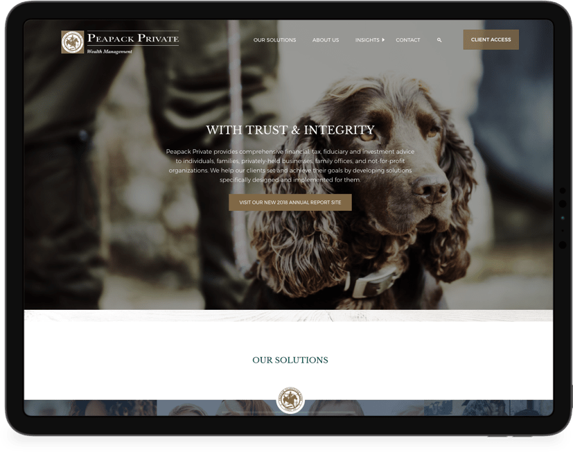 Peapack Private website